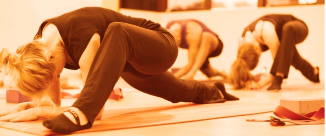 Yoga orange image banner